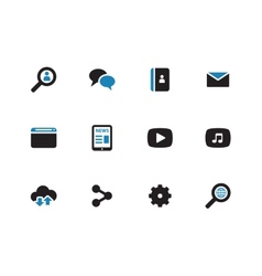 Web duotone icons on white background vector image vector image