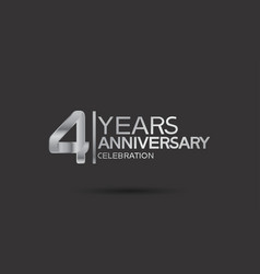 4 years anniversary logotype with silver color vector