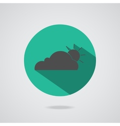 abstract cloud icon Teal button vector image