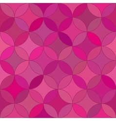 Abstract seamless rosette red pattern vector