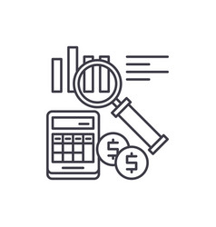 accounting line icon concept accounting vector image