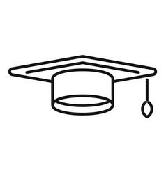 Achievement graduation hat icon outline vector