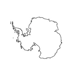 Antarctic map outline ice continent vector