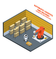 Automatic logistics and delivery isometric vector