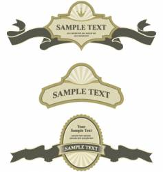 banner and labels vector image