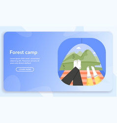 banner forest camp concept vector image