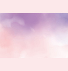 beautiful cotton candy twilight sky watercolor vector image