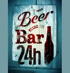 Beer bar vintage grunge style poster vector