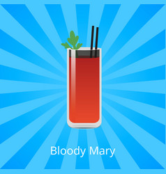 bloody mary cocktail containing vodka tomato juice vector image