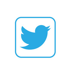 blue bird icon in square vector image
