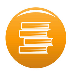 book student icon orange vector image