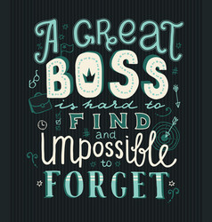 Boss day lettering vector