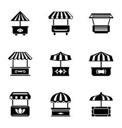 Boulevard shop icons set simple style vector