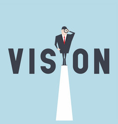 businessman vision concept vector image