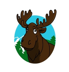 Cartoon moose or elk vector image