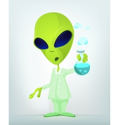 Cartoon science alien vector