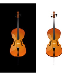 Cello in realistic style vector