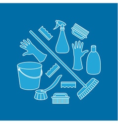 cleaning set vector image
