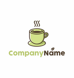coffee cafe shop logo vector image