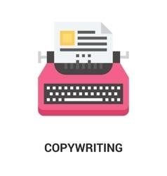 copywriting icon concept vector image