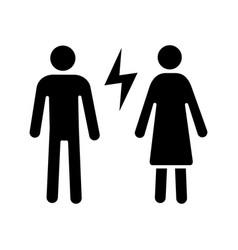 Couple quarrel glyph icon vector