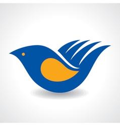 Creative Idea - Hand make a bird icon stock vector