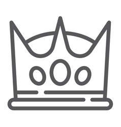crown line icon king and leader royal sign vector image