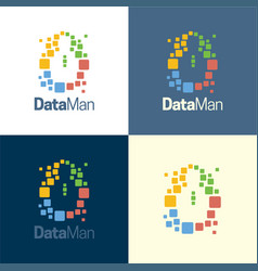 data man logo and icon vector image