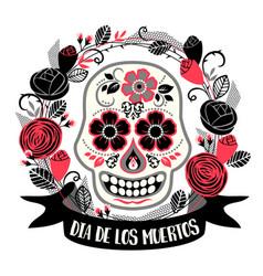 dia de los muertos day of the dead design vector image