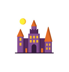 Dracula s castle icon vector