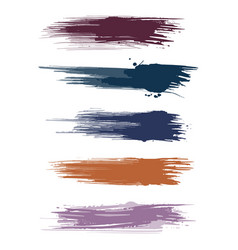 earth tone watercolor paint brush strokes vector image