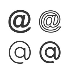 Email icons set with various style vector