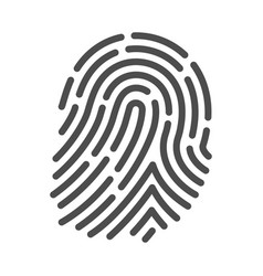 fingerprint icon crime and security vector image