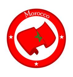 Flag of morocco on a flag vector