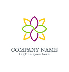 Flower decoration beauty logo vector