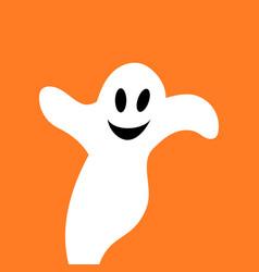 flying ghost spirit vector image