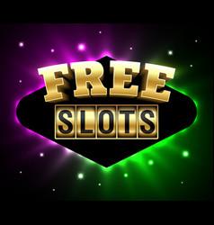 free slots banner online gambling casino games vector image
