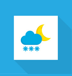 frost icon flat symbol premium quality isolated vector image