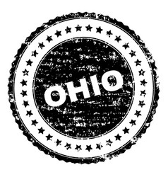 grunge textured ohio stamp seal vector image