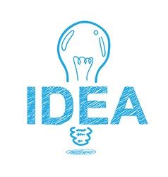 handwriting sketch idea concept design vector image