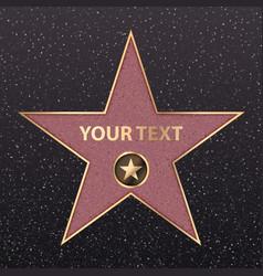 hollywood golden star celebrity fame vector image