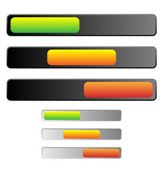 Horizontal 3 state power button without symbol vector