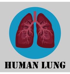 Human lung emblem vector