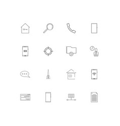 internet of things simple linear icons set vector image