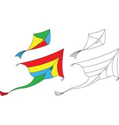 Kites flying vector