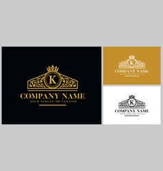 Letter k logo design luxury gold vector