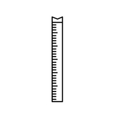 Line measuring meter to size the body vector