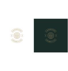 lion head line symbol logo emblem design vector image