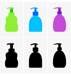 liquid soap bottle vector image
