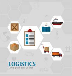 Logistics and transportation design vector
